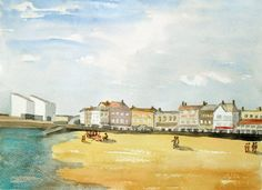 Original Watercolor Painting of Margate by JulianLovegroveArt, £60.00