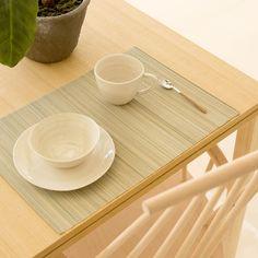 SET DE TABLE BAMBOU JAUNE CLAIR (LOT DE 2)
