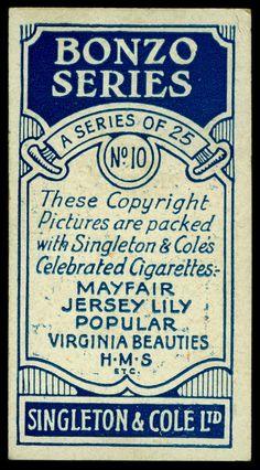 Cigarette Card Back - Singleton & Cole | Flickr - Photo Sharing!