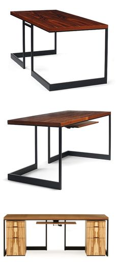 Skram Wishbone Slab Top Desk