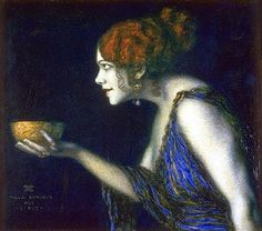 Franz Von Stuck - Circe. In Greek mythology, Circe is a goddess of magic (or sometimes a nymph, witch, enchantress or sorceress). By most accounts, Circe was the daughter of Helios, the god of the sun, and Perse, an Oceanid. Her brothers were Aeetes, the keeper of the Golden Fleece, and Perses. Her sister was Pasiphaë, the wife of King Minos and mother of the Minotaur. Other accounts make her the daughter of Hecate, the goddess of witchcraft herself.