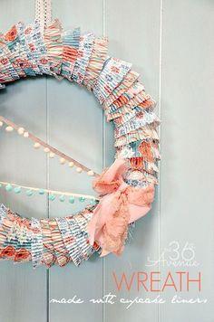 DIY Cupcake Liner Wreath Tutorial