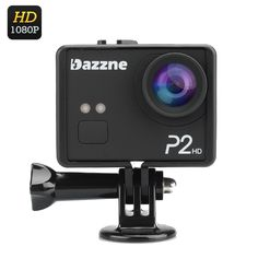 Dazzne P2 Sports Action Camera - 2 Inch TFT Screen 130 Degree Wide Angle Lens 1080P  1/3 inch CMOS Sensor 12MP