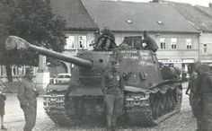 Russian ISU-122S, maybe in Poland.