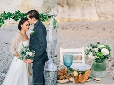 Weddingplanner & Stylist Alle Gebeure Nautical seaglass & driftwood wedding shoot Etretat - fotocredits: Kasia Bacq Photographer