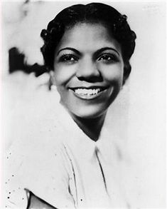 A sweetly likeable and very popular Jazz baby, Ivy Anderson was Duke Ellington's favorite Vocalist. Ivy was invited to be in films and was the first to sing the classic Jazz hit Stormy Weather in the movies.  An entrepreneurial Jazz Baby,when illness forced her to stop singing,she opened a restaurant, Ivie's Chicken shack.