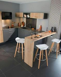 32 Beautiful Small Kitchen Design Ideas And Decor. If you are looking for Small Kitchen Design Ideas And Decor, You come to the right place. Below are the Small Kitchen Design Ideas And Decor. Ikea Kitchen Remodel, Home Decor Kitchen, Kitchen Remodeling, Remodeling Ideas, Kitchen Hacks, Kitchen Gadgets, Rustic Kitchen, Eclectic Kitchen, Studio Kitchen