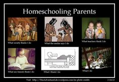 What People Think I do ( I don't homeschool...but I understand. HAHAHA!)