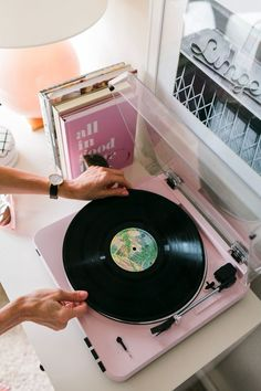 Pretty Pink Turntable