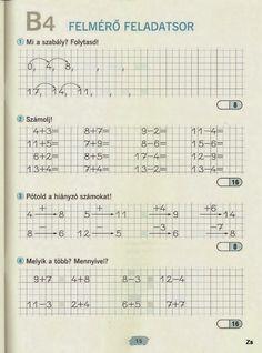 Albumarchívum - Matek felmérő mozaik Home Learning, Homeschool Math, Worksheets, Preschool, Album, Teaching, Life, Archive, Santa Ornaments