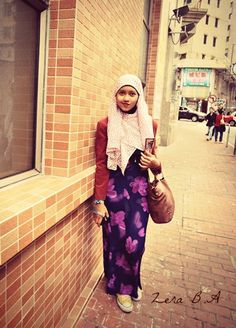 Going to Hongkong Mosque  #longdress #floral #purple