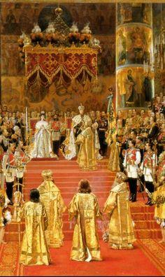 Tsar Alexander III (1845-1894) and Tsarin Maria Feodorovna(1847-1928) / The coronation day -1881
