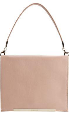 Jil Sander Metal Bar Small Bag in Blush