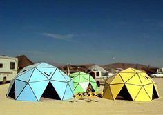how to build a geodesic dome out of cardboard. this might be beyond me, but sure is cool.
