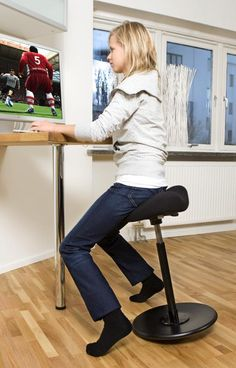 Varier Move Standing Stool. a good solution for our future standing desks.
