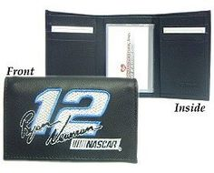 Ryan Newman Embroidered Leather Tri-Fold Wallet