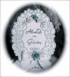 Heirloom Oval Glimmer Mint & Weiß