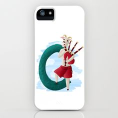 C comme chèvre iPhone & iPod Case by Dinett illustration - $35.00