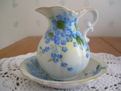 Vintage Lefton China Pitcher and Bowl by GotMilkGlassAndMore, $9.95