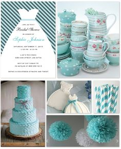 Bridal Shower Party Inspiration - Tiffany Blue and Gray