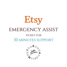 Emergency Etsy Assist Online, 30 Minutes Etsy Mentor Support, Video Call ETSY Help, Etsy Quick Support, Title Tag Lessons, Shop Critique