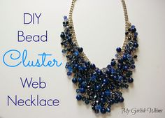 My Girlish Whims: DIY Bead Cluster Web Necklace