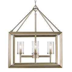 Modern Geometry 4-Light Chandelier