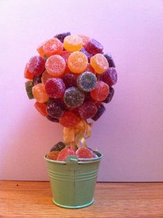 Fruit pastilles sweet tree Rowntrees Fruit Pastilles, Miss Sweet, Candied Lemons, Sweet Trees, Edible Gifts, Backdrops For Parties, Little Miss, Perfect Party, Diy Gifts