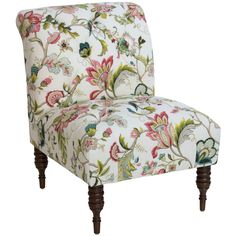 Skyline Furniture Floral Tufted Chair (Jewel), Green (Upholstered)