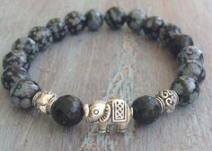 Boho Bracelet Elephant Bracelet Beaded Bracelet Boho by indietiez