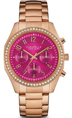 Women s Caravelle Rose Gold Tone Watch  44L223  CaravelleNewYork fa98241f77