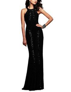 Foryingni Women's Sequin Prom Maxi Evening Dress One Size Black Foryingni http://www.amazon.com/dp/B0165BZ4TO/ref=cm_sw_r_pi_dp_Mq35wb15FWXHM