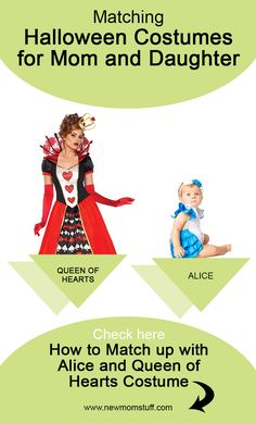 Looking for matching Halloween costumes for mom and baby daughter. Here's more than a dozen idea to help you out. Matching Halloween Costumes, Mom Costumes, Baby Girl Halloween Costumes, Pregnancy Bump, Pregnancy Looks, Newborn Schedule, Queen Of Hearts Costume, Baby Development, Mom Advice