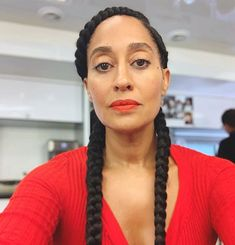 Tracee Ellis Ross Shows Off Her Braids - Snob Queens Two French Braids, Two Braids, Lab, Tracee Ellis Ross, Skin Tips, Cornrows, Braid Styles, Hair Goals, Braided Hairstyles