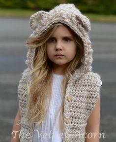CROCHET PATTERN - Lanstyn Lion Hooded Vest (2, 3/4, 5/7, 8/10, 11/13, 14/16, S/M, L/XL) by Thevelvetacorn on Etsy https://www.etsy.com/listing/235416056/crochet-pattern-lanstyn-lion-hooded-vest