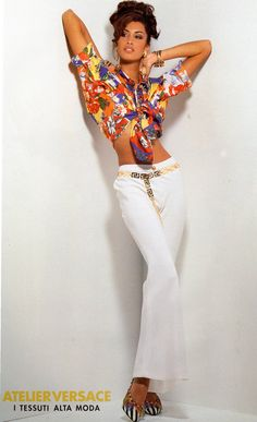 80s-90s-supermodels:  Versace, circa 1990sModel : Yasmeen Ghauri ( Source : Bellazon )
