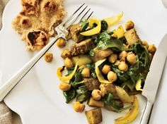 Curried Eggplant with Chickpeas and Spinach | Food & Wine goes way beyond mere eating and drinking. We're on a mission to find the most exciting places, new experiences, emerging trends and sensations.