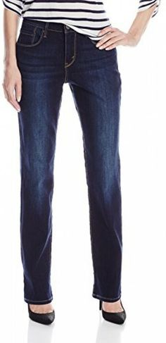 85e13674070 Levi's 4M / 27 x 32 Womens 505 0145 Blue Mid Rise Straight Stretch Denim  Jeans