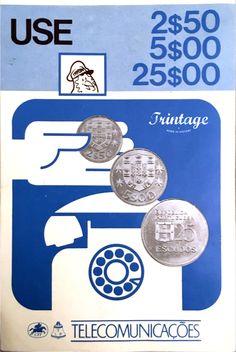 Autocolante publicitário CTT, anos 70