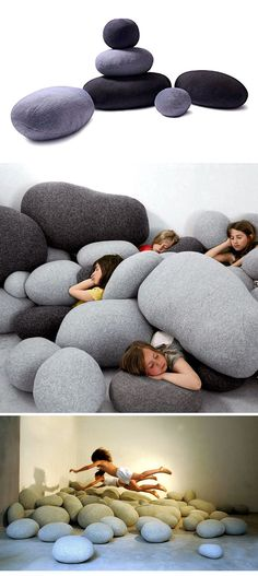Don't judge the appearance, because these are not stones, but are extremely comfortable and densely packed pillows. Check it out==> | Stone Pillows | http://gwyl.io/stone-pillows/