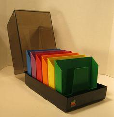 Vintage Apple II Computer Floppy Disk Storage - so fun!
