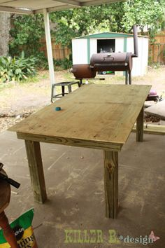 Outdoor Tiled Table: A How-To