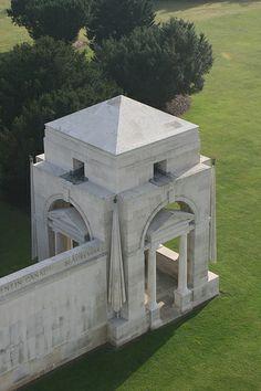 Villers-Bretonneux Military Cemetery & Australian Memorial Fouilloy Somme France Sir Edwin L. Lutyens (1869- 1944), Principal Architect George Hartley Goldsmith (1886/7-1967), Assistant Arc