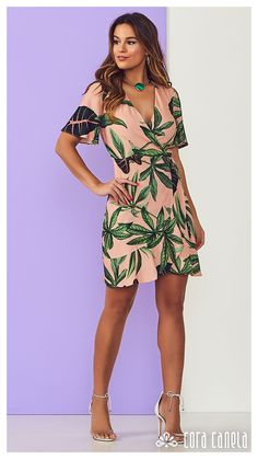 Casual Dresses For Women, Casual Outfits, Cute Outfits, Fashion Outfits, Womens Fashion, Summer Wedding Outfits, Summer Dresses, School Dresses, Tropical Dress