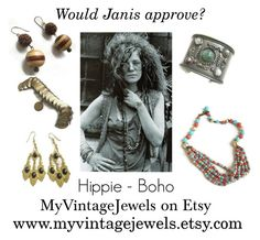 """Janis approved - Hippie - Boho"" by myvintagejewels ❤ liked on Polyvore featuring Janis, vintage, women's clothing, women's fashion, women, female, woman, misses and juniors"