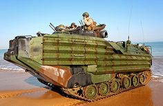 A United States Marine Corps Assault Amphibian Vehicle (AAV) comes ashore at Fog Bay, Northern Territory, Australia, as part of the Amphibious Landing phase of Excercise Talisman Sabre 2015.