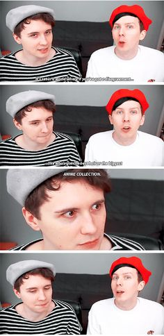 GIF SET: Can Dan and Phil Dress Anime Girls?