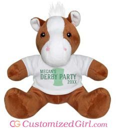 Customized Stuffed Animals from Customized Girl! #kentuckyderby #churchilldowns