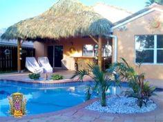 Our Portfolio - Big Kahuna Tiki Huts Tiki Bar Stools, Outdoor Crafts, Outdoor Decor, Backyard Beach, Tiki Hut, Home Landscaping, Beach Signs, New England, Exotic