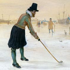 AVERCAMP Hendrick - Dutch (1585 - 1634) ~ Golf Players on Ice', 1625